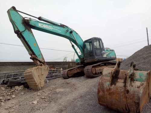 陕西出售转让二手6500小时2010年神钢SK210LC挖掘机