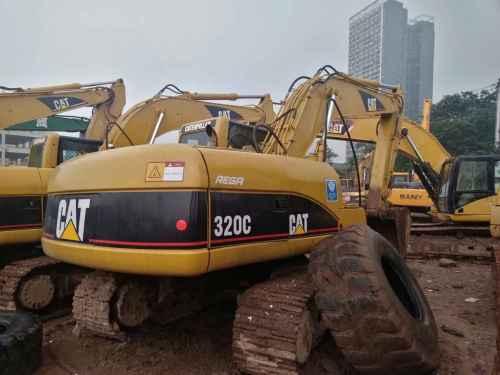 重庆出售转让二手18000小时2004年卡特彼勒320C挖掘机