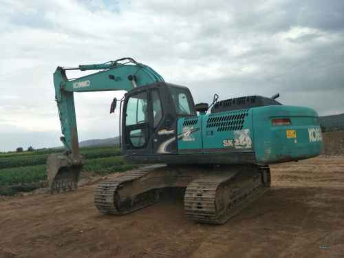 甘肃出售转让二手5000小时2014年神钢SK250挖掘机