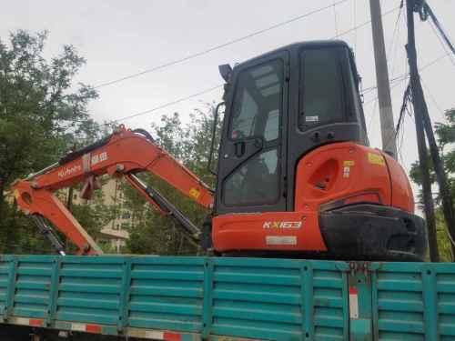 甘肃出售转让二手800小时2014年久保田KX163挖掘机