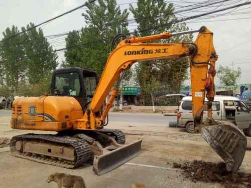 陕西出售转让二手5600小时2012年龙工LG6085挖掘机