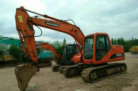 天津出售转让二手7500小时2010年斗山DH150挖掘机