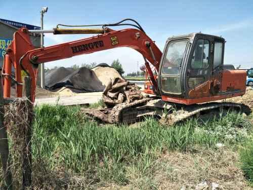 天津出售转让二手9800小时2010年恒特重工HT120A挖掘机