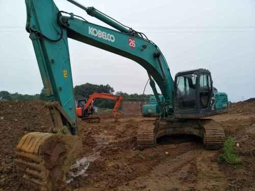 湖北出售转让二手5000小时2013年神钢SK250挖掘机
