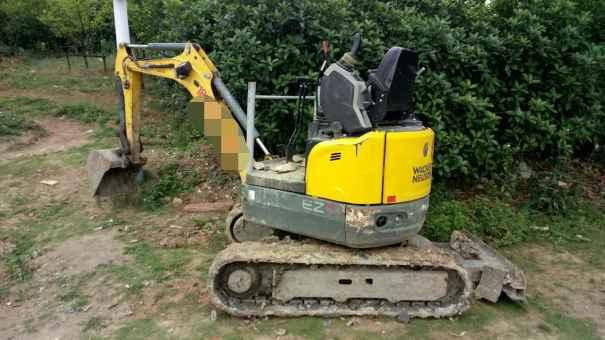 安徽出售转让二手2800小时2014年威克诺森EZ17挖掘机