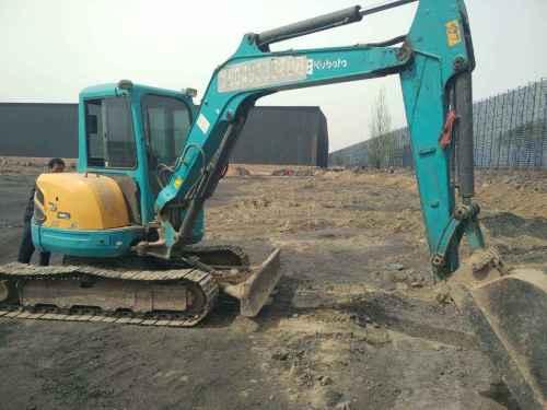 内蒙古出售转让二手5000小时2011年久保田KX155挖掘机