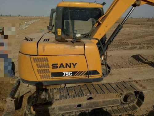 宁夏出售转让二手4800小时2011年三一重工SY75C挖掘机