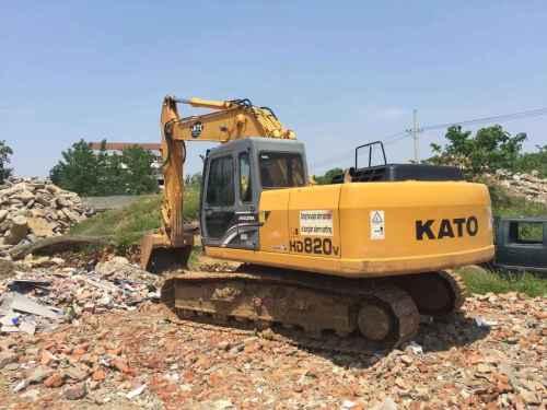 湖北出售转让二手5000小时2008年加藤HD820V挖掘机