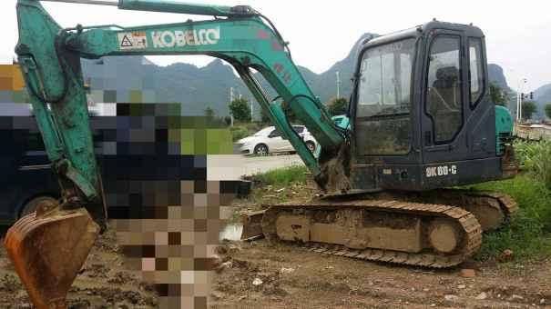 广西出售转让二手6000小时2012年神钢SK60挖掘机