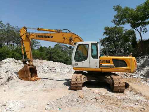河南出售转让二手6000小时2010年利勃海尔R916LC挖掘机
