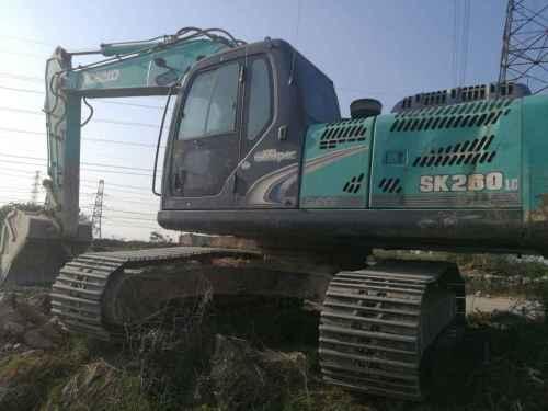 河南出售转让二手7000小时2010年神钢SK260LC挖掘机