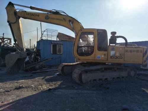天津出售转让二手12099小时2003年日立EX200挖掘机