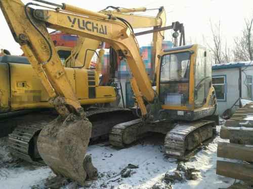 黑龙江出售转让二手8000小时2010年玉柴YC60挖掘机