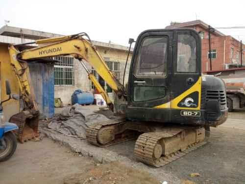 河北出售转让二手9000小时2008年现代R60挖掘机