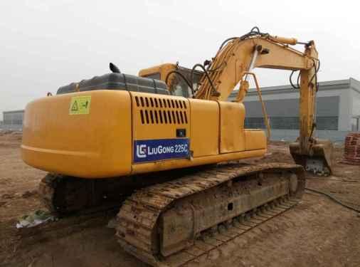 宁夏出售转让二手9000小时2008年柳工CLG225C挖掘机