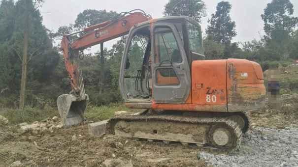 贵州出售转让二手13988小时2009年日立ZX70挖掘机