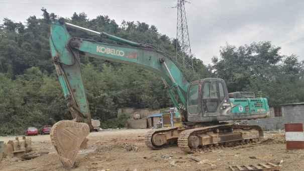 贵州出售转让二手4874小时2009年神钢SK350LC挖掘机