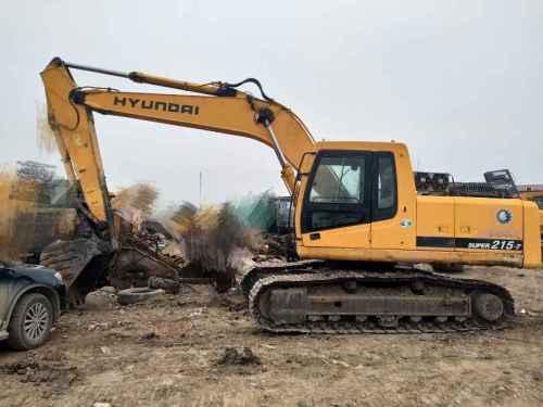江苏出售转让二手10000小时2008年现代R215挖掘机