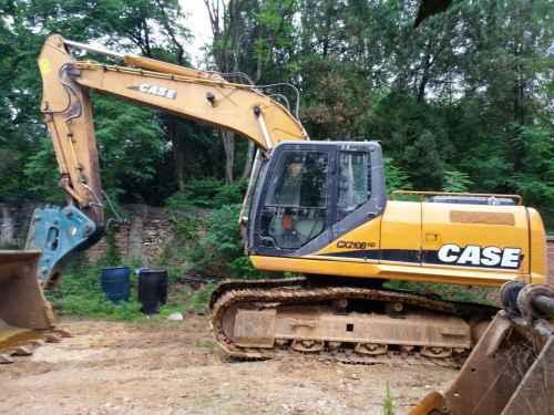 陕西出售转让二手5000小时2010年凯斯CX210B挖掘机