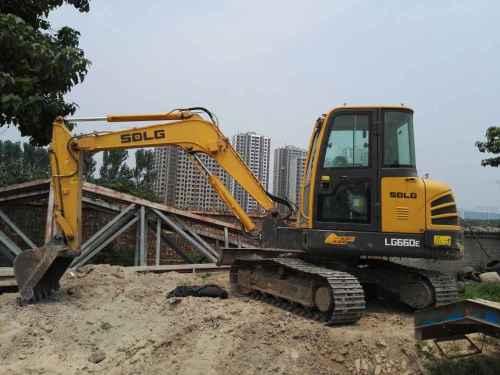 陕西出售转让二手1200小时2015年临工LG660E挖掘机