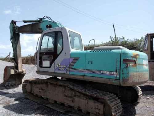 陕西出售转让二手13000小时2009年神钢SK210LC挖掘机