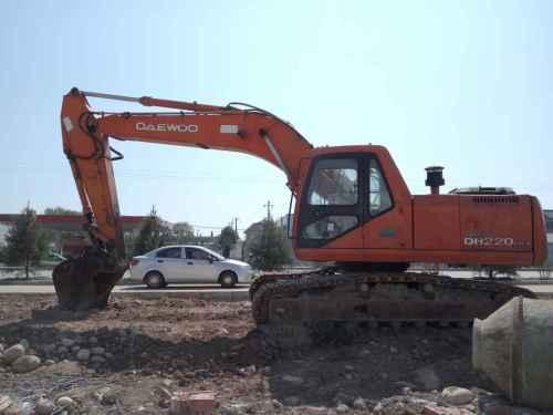 陕西出售转让二手12000小时2005年大宇DH220LC挖掘机