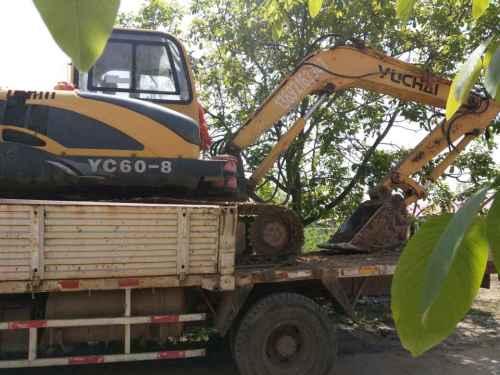 陕西出售转让二手3500小时2012年玉柴YC60挖掘机
