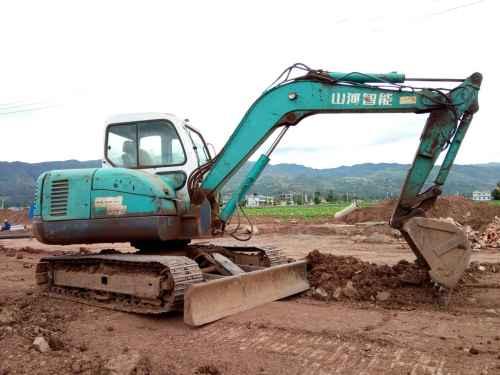 云南出售转让二手7300小时2013年山河智能SWE70H挖掘机