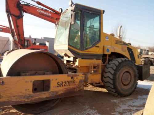 甘肃出售转让二手6000小时2010年山推SR22M单钢轮压路机