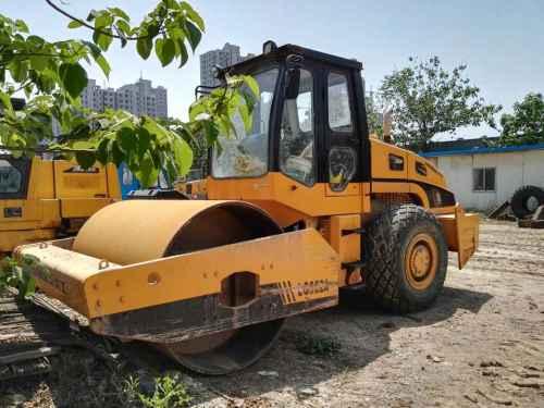 陕西出售转让二手5000小时2009年龙工LG522D单钢轮压路机