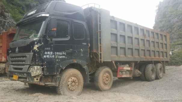 广西出售转让二手2013年中国重汽豪沃ZZ5437N466741自卸车