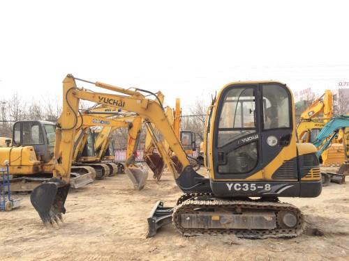 河北出售转让二手8小时2011年玉柴YC35挖掘机