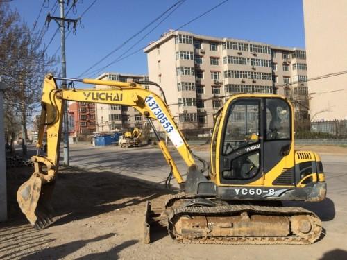 河北出售转让二手3015小时2009年玉柴YC60挖掘机