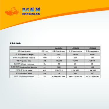 龙工单钢轮振动压路机电子样本-第6页