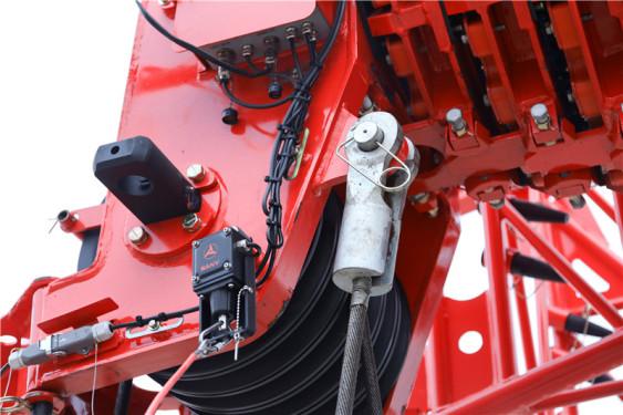 【快速索节钢丝绳】1、直径20mm超高强度35W×K7防旋转卷扬钢丝绳,最大允许单绳拉力7.5吨,单绳吊载性能强19%以上。 2、快速索节设计,节省90%穿绳时间。