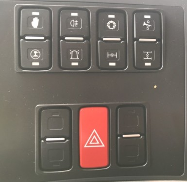 【Panel】Bus key panel: It is simple, elegant, good to touch and highly reliable.