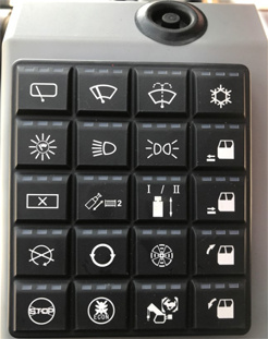 【Switch】Button switch: The brand-new button switch with state indication is designed 45° tilted to provide convenient operation.