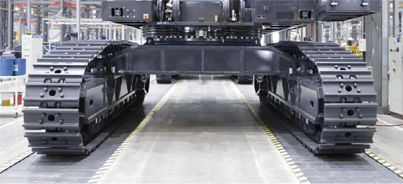 【多圖】徐工XE1250礦用液壓挖掘機強健的組合式下車行走細節圖_高清圖