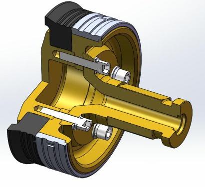 【轻量化活塞头更换更便捷】轻量化活塞推送头,降重25%,配合大空间水槽,提高维护便捷性。