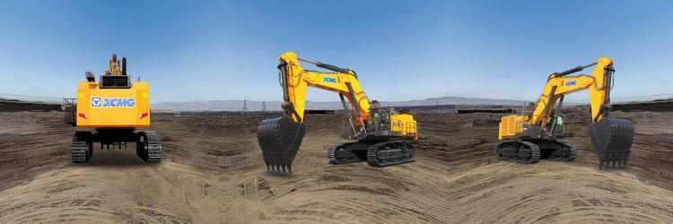 【720°全景展示】徐工XE1250矿用液压挖掘机