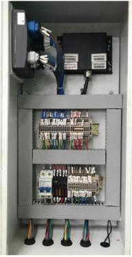 【电控集于一柜】集电控系统于一柜,易于维修,安全防水,可靠性高。