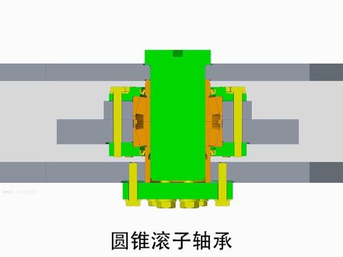 【重载车架】1.箱式重载车架;2.圆锥滚子轴承+关节轴承复合结构铰接。