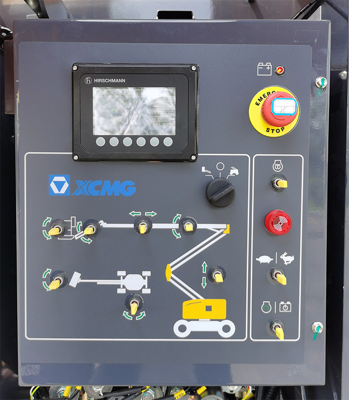 【多图】徐工XGA16曲臂式高空作业平台下车控制台细节图_高清图