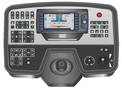 【操控系统】1.根据功能和操作频率设置按钮位置 ——操作直观便捷 2.触摸键配防水设计,配防破坏保护罩 3.大屏幕7英寸彩色显示屏