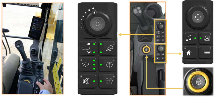 【多图】中车 TR228H 旋挖钻机简单便捷的开关面板细节图_高清图