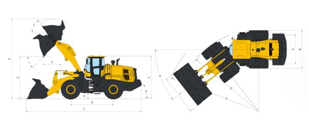 【机型介绍】超长轴距,超重载车身结构设计,大功率动力匹配。适用于大型的港口、码头、厂矿企业等重载物料的铲运与装卸。适应超重载及恶劣工况。