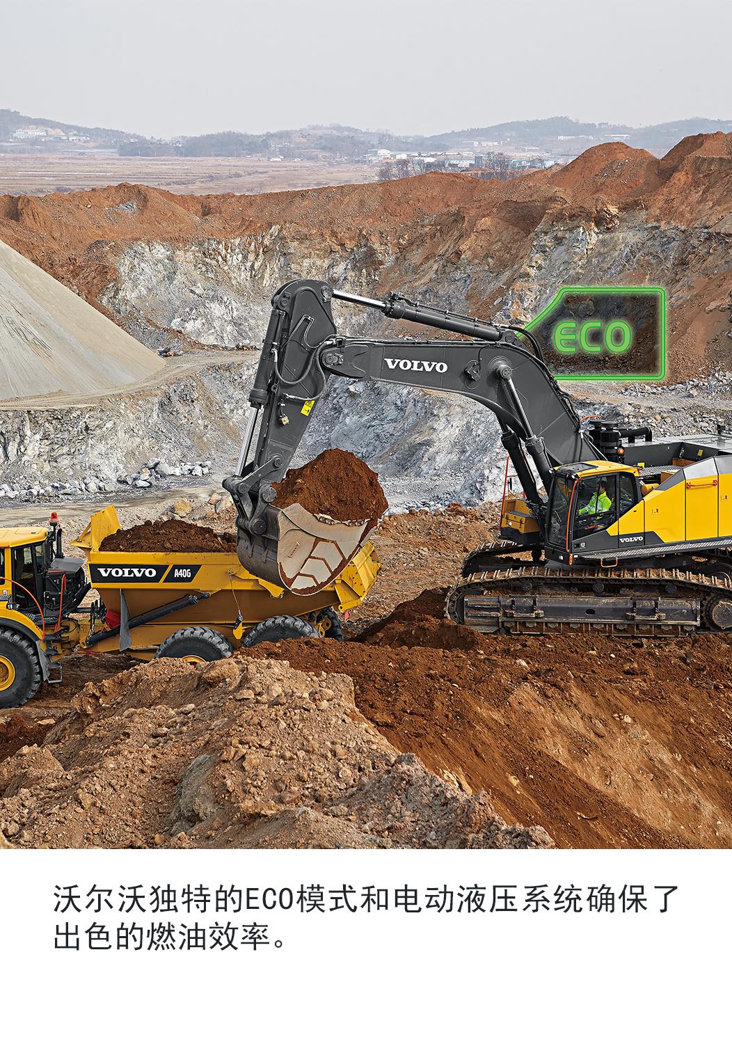 【多圖】沃爾沃EC950EL挖掘機出色的燃油效率細節圖_高清圖