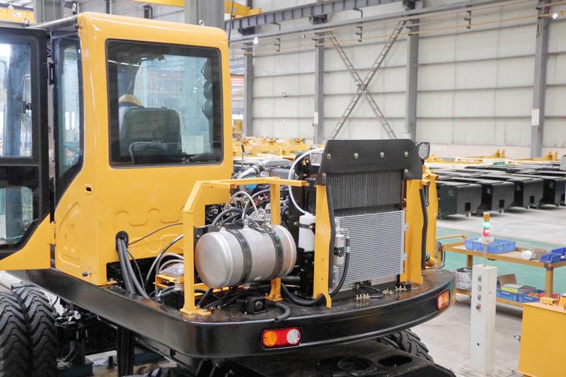 【多图】晋工JGM9100LNZ-10轮式挖掘机整机热平衡布局细节图_高清图