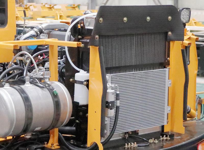 【多圖】晉工JGM9100LNZ-10輪式挖掘機獨特的冷卻方式細節圖_高清圖