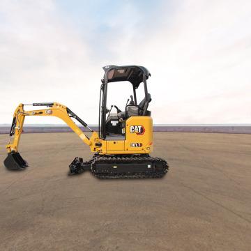 卡特彼勒新一代Cat®301.7CR迷你型挖掘机全景外观